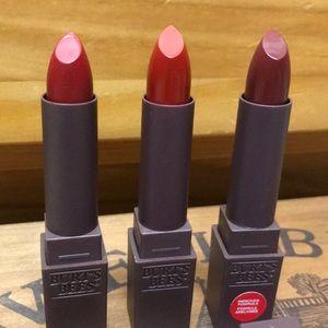 New Burt's bees red lipsticks